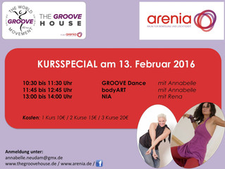 Arenia meets THE GROOVE HOUSE - Special am 13.02.2016