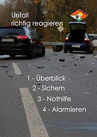 K12 Vorderseite Unfall richtig reagieren