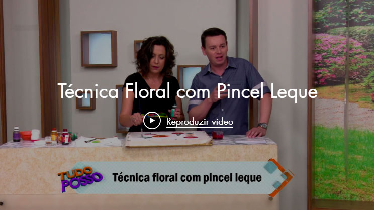 Técnica Floral com Pincel Leque