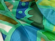"""Echarpe de seda """"Azulezar é Preciso"""""""
