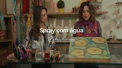 Spray com água