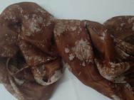 """Echarpe de seda """"Brown Batik"""""""