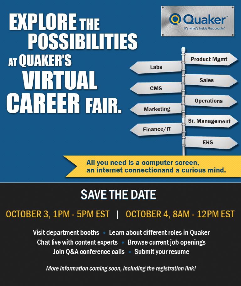 Quaker Chemical Career Fair