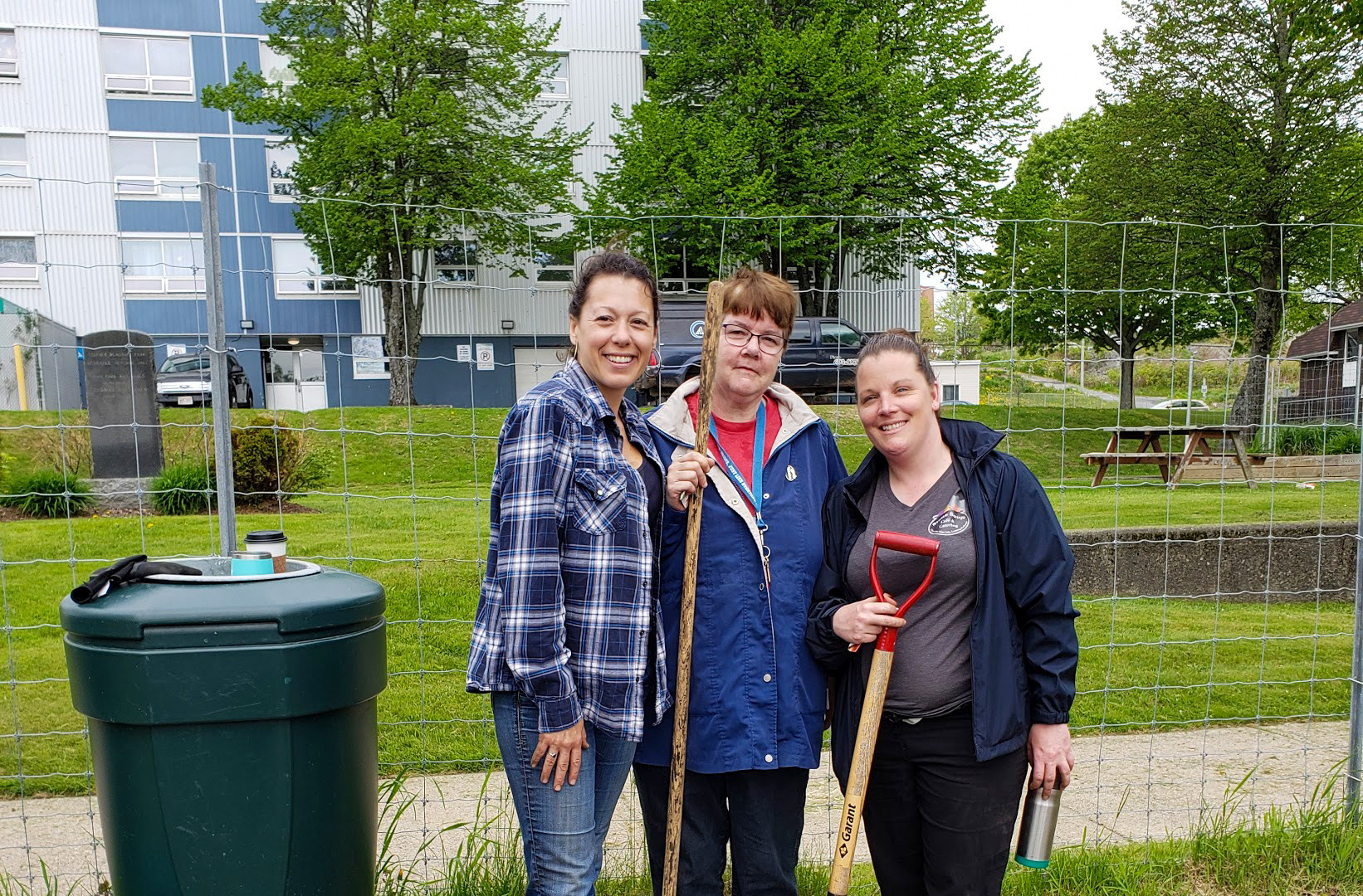 The Stone Soup Team at the Community Garden