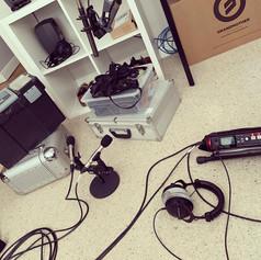 Foley recording Session