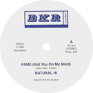 Backatcha record label design by Bret Syfert for Fame by Natural High