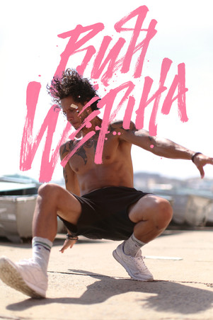 Hip hop artist Rush Wepiha custom calligraffiti lettering logo branding identity by Bret Syfert