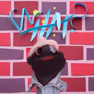 In A Minute with Puppet Nice album cover paper sculpture by Bret Syfert