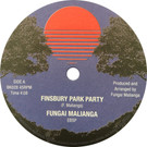 Backatcha record label design by Bret Syfert for Finsbury Park Party by Fungai Malianga