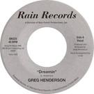 Backatcha record label design recreation by Bret Syfert for Dreamin' by Greg Henderson