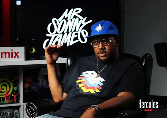 DJ and producer Mr. Sonny James custom lettering logo branding identity by Bret Syfert