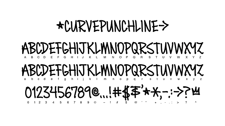 Curve Tall Hand and Punchline Philly Graffiti Font by Curvazoid and Bret Syfert (Hyde's Lovelies)