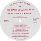 Backatcha record label design recreation by Bret Syfert for Do You Know Black History by Dr. Mary Sullivan Bain