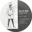 Backatcha record label design by Bret Syfert for Money Talks by En-To-End