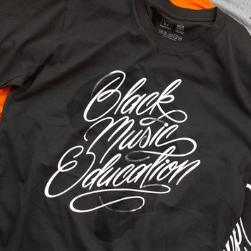 Black Music Education custom script lettering by Bret Syfert