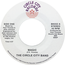 Backatcha record label design by Bret Syfert for Magic by The Circle City Band
