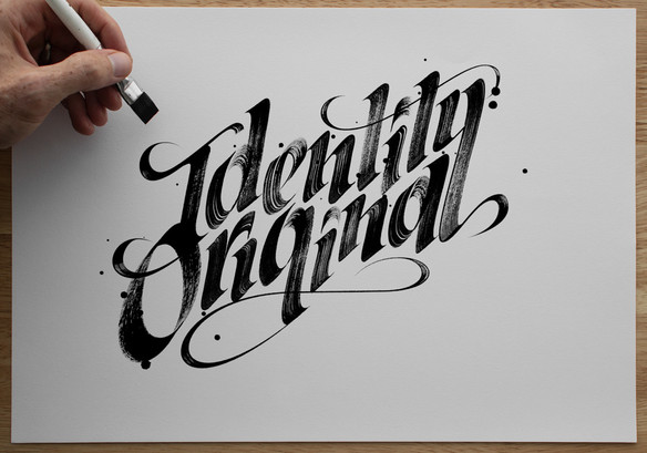 Calligraffiti custom blackletter brush lettering by Bret Syfert