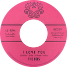 Backatcha record label design by Bret Syfert for I Love You by The Bees