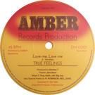 Backatcha record label design recreation by Bret Syfert for Love Me, Love Me by True Feelings