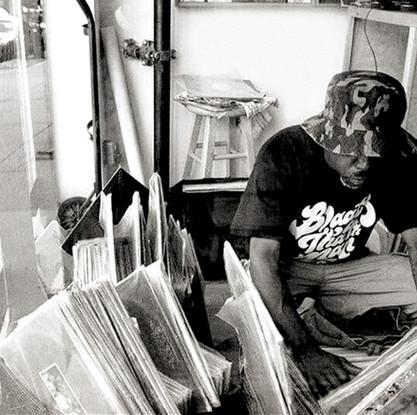 Blaak Tha 9th Man DJ and producer custom lettering logo branding identity by Bret Syfert
