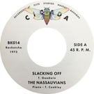 Backatcha record label design by Bret Syfert for Slacking Off by The Nassauvians