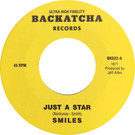 Backatcha record label design recreation by Bret Syfert for Just A Star by Smiles