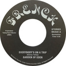 Backatcha record label design recreation by Bret Syfert for Everybody's On A Trip by Garden Of Eden