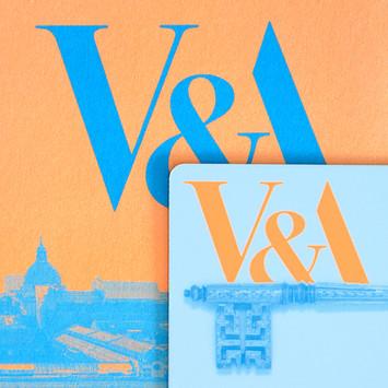 V&A membership fluorescent neon print campaign design by Bret Syfert