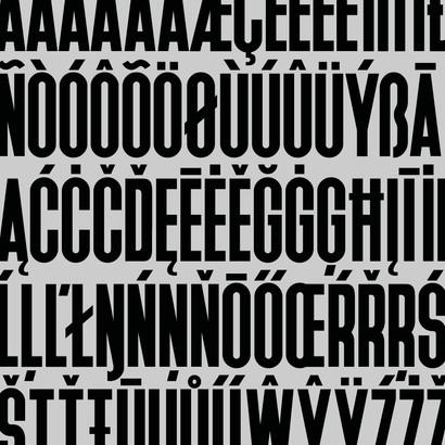 Advanz Pharma extended Latin custom font by Bret Syfert