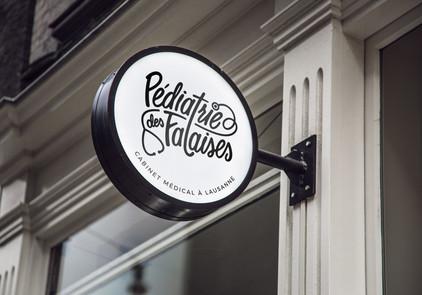 Pédiatrie des Falaises pediatrician custom logo brand identity by Bret Syfert