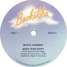 Backatcha record label design by Bret Syfert for Night Over Egypt by Mystic Harmony