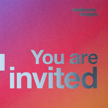 Wellcome Image Awards foil stamp printed identity by Bret Syfert