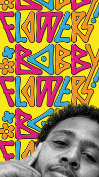 DJ and producer Bobby Flowers custom lettering logo branding identity by Bret Syfert
