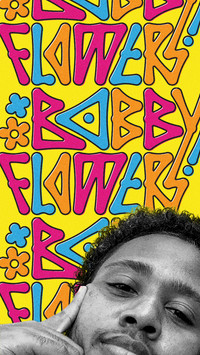 DJ and producer Bobby Flowers custom lettering logo branding identity by Bret Syfert