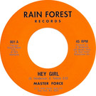 Backatcha record label design recreation by Bret Syfert for Hey Girl by Master Force