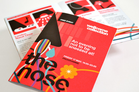 The Nose: Illustrative event identity for Wellcome Collection by Bret Syfert