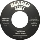 Backatcha record label design recreation by Bret Syfert for Keep You Burning by The Shider Family Band
