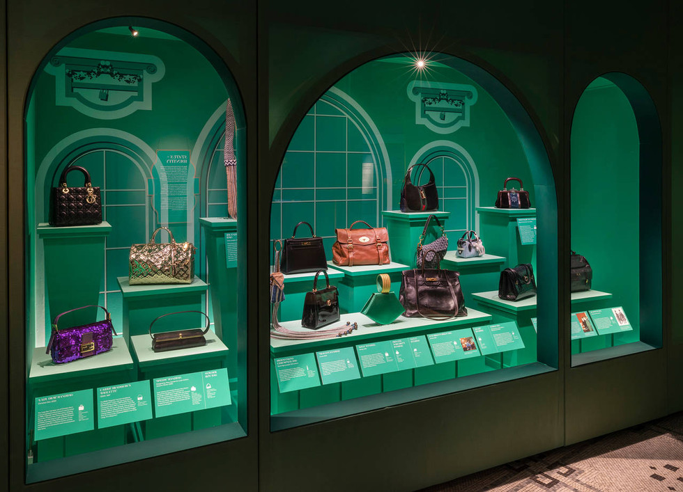 V&A Bags exhibition installation graphic