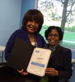 Broward UNA Award to AAUW