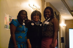 UNA Pres and VP with Scholarship Winner