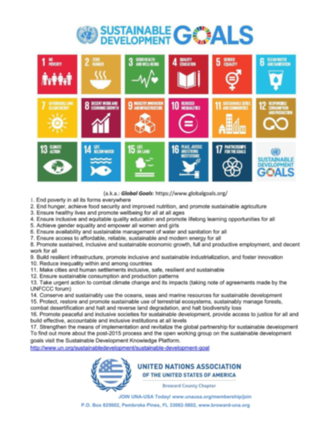 Sustainable Development Goals - Global G
