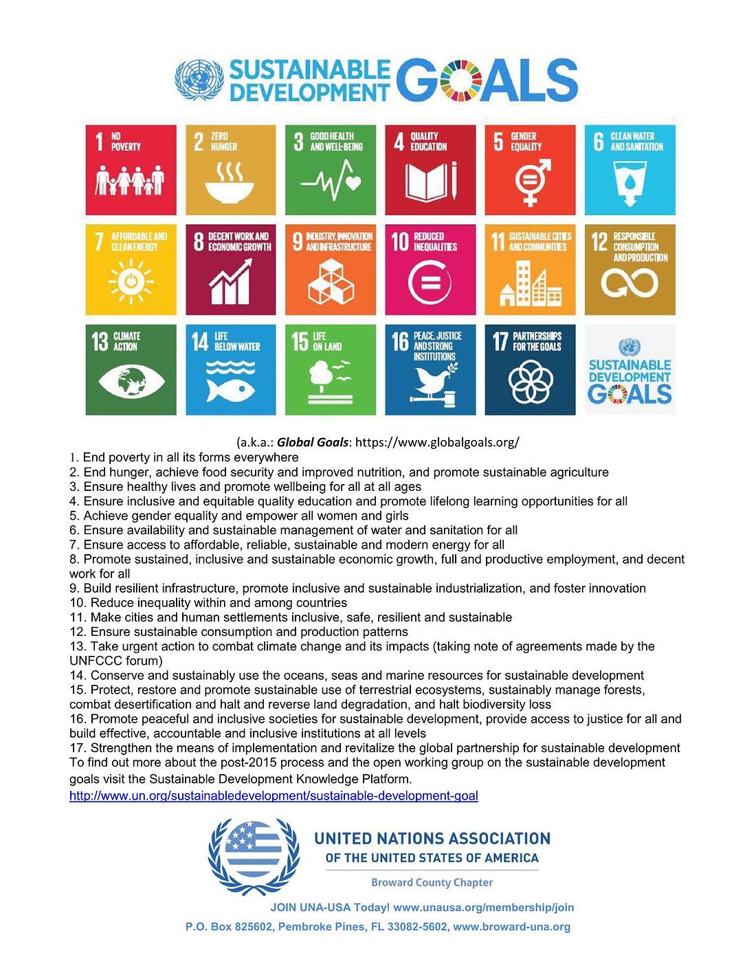 Sustainable Development Goals - Global G