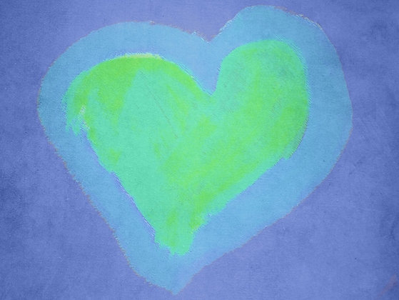 Mindy's Purple Heart (Acrylic)