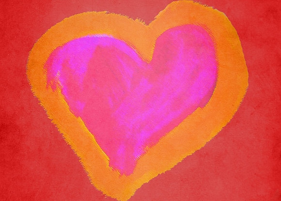 Mindy's Red Heart (Acrylic)