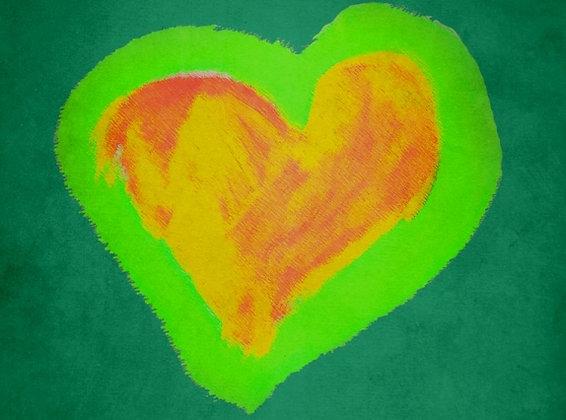 Mindy's Green Heart (Acrylic)