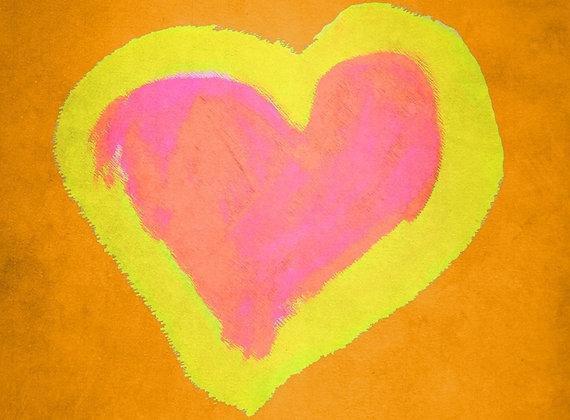 Mindy's Orange Heart (Acrylic)