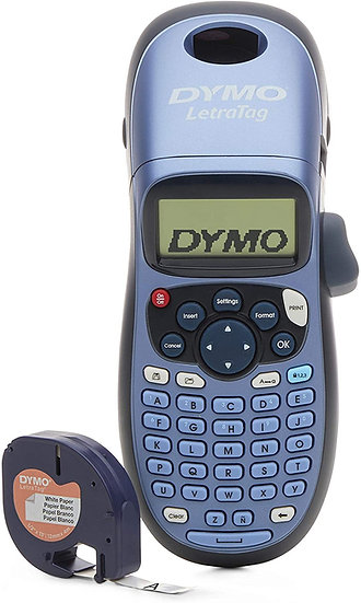 Dymo LetraTag LT100H Rotuladora de Cinta Plástica para Hogar y Oficina