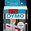 DYMO 45017 | Cinta Plastica Impresión Negro/Rojo de 12mm x 7m
