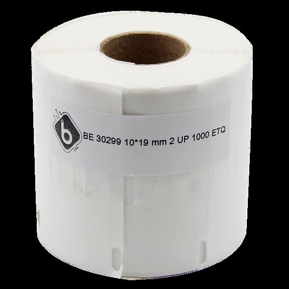 LW30299 Rollo por 1000 Etiquetas de Papel Térmico para Joyería de 10x19mm 2up para DYMO 450