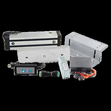 AXCSS Electroimán rectangular de 300 lb con Soporte en Z Ajustable | AXF300